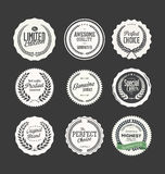 Retro emblem och etikettsamling Arkivfoton
