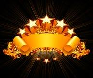Retro- Emblem, schwarzer Hintergrund Lizenzfreie Stockfotografie