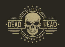 Retro emblem with skull Royalty Free Stock Photography
