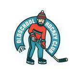 Retro emblema dell'hockey per il club dilettante royalty illustrazione gratis