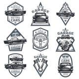 Retro emblemi del club del veicolo messi royalty illustrazione gratis