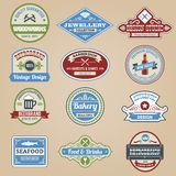 Retro Emblems Colored Royalty Free Stock Photography