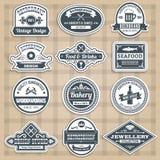 Retro Emblems Set Stock Photo