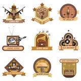 Retro Emblems Set Royalty Free Stock Photography