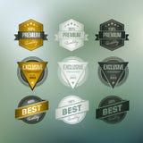 Retro emblemsamling Royaltyfri Bild