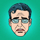 Retro Emoji cry face man Royalty Free Stock Photo