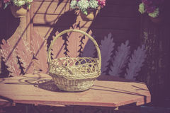 Retro Empty Basket Stock Photo