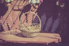 Retro Empty Basket Stock Photo
