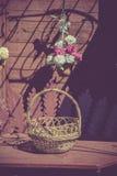 Retro Empty Basket Royalty Free Stock Photos