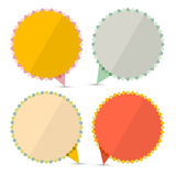 Retro Empty Stickers - Labels Set. Isolated on White Background Stock Image