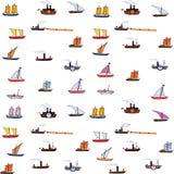 Retro en oude schepen naadloze achtergrond Royalty-vrije Stock Afbeelding