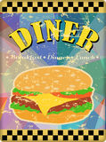 Retro enamel diner sign Royalty Free Stock Images
