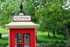 Retro Engelse telefooncel Royalty-vrije Stock Afbeelding