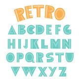 Retro english alphabet Royalty Free Stock Photography