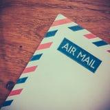 Retro Envelop van de Luchtpost Stock Fotografie