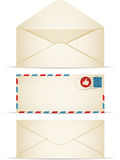 Retro Envelopes. Retro envelope collection with copy space royalty free illustration