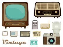 Retro equipment. Vector illustration Royalty Free Stock Image