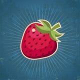 Retro- Erdbeerillustration Stockbilder