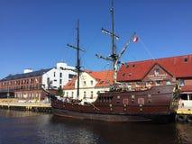 Retro eryk di krol della nave di Darlowko Polonia in primo luogo Fotografie Stock Libere da Diritti
