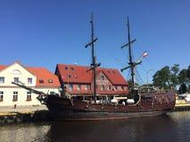 Retro eryk di krol della nave di Darlowko Polonia in primo luogo Fotografia Stock Libera da Diritti