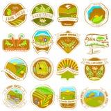 Retro etichette d'annata dell'azienda agricola Immagine Stock Libera da Diritti