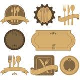 Retro etichette del ristorante illustrazione vettoriale
