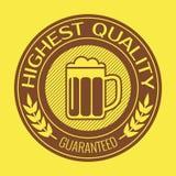 Retro etiket voor bier of brouwt Vector illustratie Royalty-vrije Stock Afbeelding