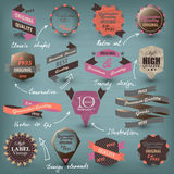 Retro etiketinzameling Royalty-vrije Stock Afbeelding