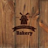 Retro etikett för bageri Arkivfoto