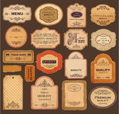 Retro etiketter Arkivfoton