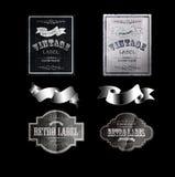 Retro etiketter 06black Arkivfoton