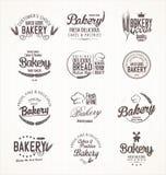 Retro etiketter för bageri Royaltyfria Bilder