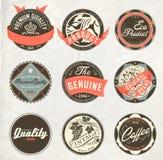 Retro etiketter för tappningdesign Royaltyfri Bild