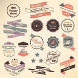 Retro etikettsamling Royaltyfri Foto