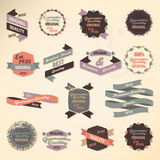 Retro etikettsamling Vektor Illustrationer