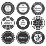 Retro etykietek odznaki Zdjęcie Royalty Free