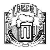 Retro etykietka piwo lub browar royalty ilustracja