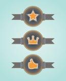 Retro etykietki royalty ilustracja