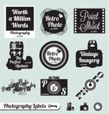 Retro Etykietki Fotografia Majchery i Zdjęcie Royalty Free