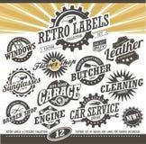 Retro etykietki i majchery inkasowi Obraz Royalty Free
