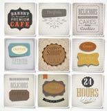 Retro etykietki i typografia, Zdjęcie Royalty Free
