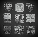 Retro etykietki i typografia, Obrazy Stock