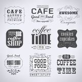 Retro etykietki i typografia, Fotografia Royalty Free