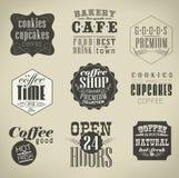 Retro etykietki i typografia, Obrazy Royalty Free