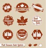 Retro Etykietki Sezon Jesienny Majchery i Fotografia Stock