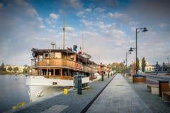 Retro excursion boat Stock Image