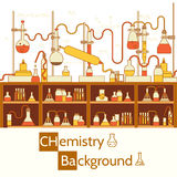 Retro experiments in a chemistry laboratory Stock Photos