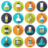 Retro experiments in a science chemistry Royalty Free Stock Photos
