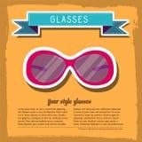 Retro exponeringsglasbakgrundsbegrepp vektor Royaltyfria Bilder