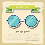 Retro exponeringsglasbakgrundsbegrepp vektor Royaltyfri Fotografi